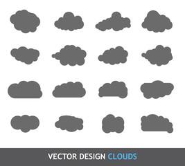 Vector Design Elements. Clouds