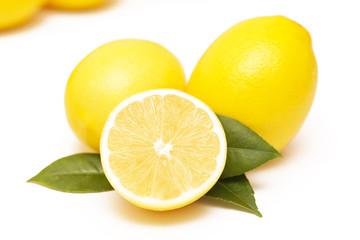 Lemon, studio image on white