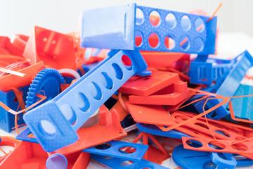 plastic wastes at 3D printing