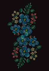 embroidery floral decoration
