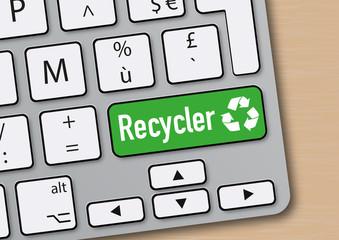 Recycler - recyclage - écologie - environnement -mot - écologique - clavier d'ordinateur - énergie