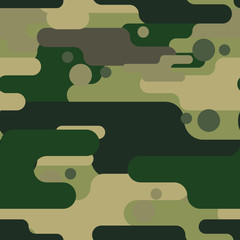 Camouflage seamless pattern. Camouflage pattern background . Vector illustration. Military camouflage seamless pattern.