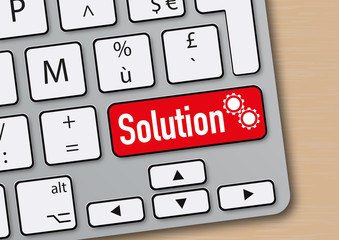 solution - idée - innovation - créativité - réussite - succès - mot - clavier d'ordinateur