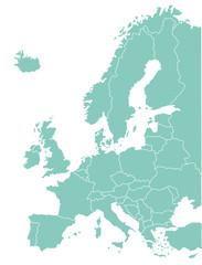 Europakarte Geographisch, Grafik