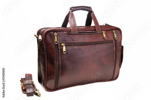13519b7595 Leather bag three in one style briefcase