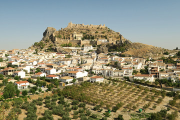 Views of the Moclin's castle and the town