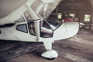 Small private airplane