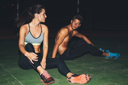 Late Night workout.