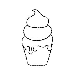 ice cream in paper cup snack sweet
