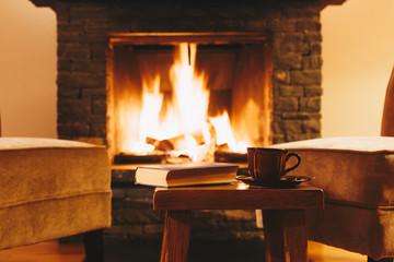 Fototapete - Winterurlaub im Chalet