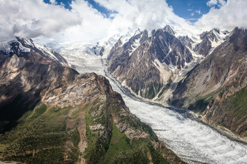 Glacier in Pakistan (Barpu & Miar Glacier)