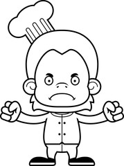 Cartoon Angry Chef Orangutan
