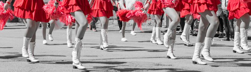 Among the dances and music of the tulip festival in the village of Castiglione del Lago
