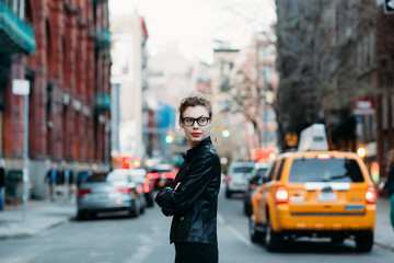 Young professional woman on the streets of New York City