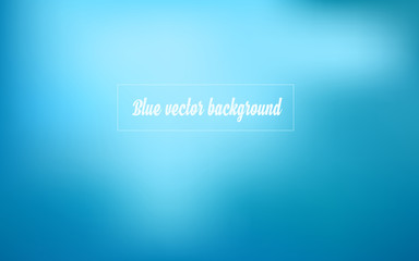 Simple gradient blue abstract vector background