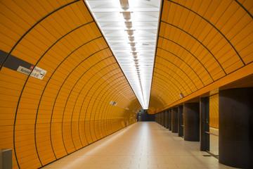 A vast underground train station