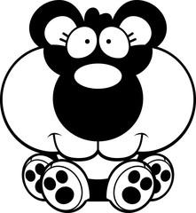 Cartoon Panda Cub Sitting