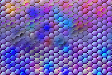 hexagon mesh_digital style pattern_4