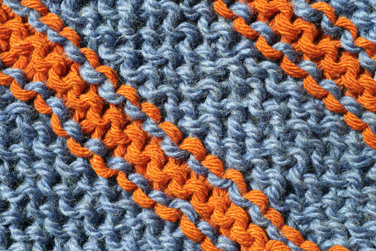 Detail of knitwear of a shawl