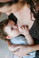 Boy Breastfeeding