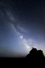 Milky Way Galaxy Above Mountain Peak