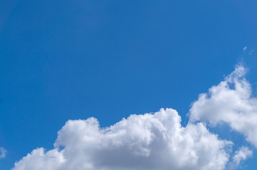 background of beautiful blue sky
