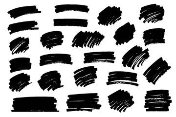 Marker, paint, ink brush stroke, text mark, frame.