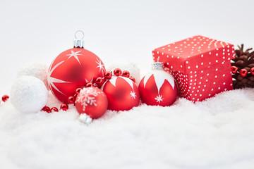 Hintergrund mit Dekoration zu Weihnachten