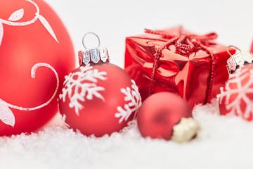 Weihnachtskarte mit Geschenk zu Weihnachten