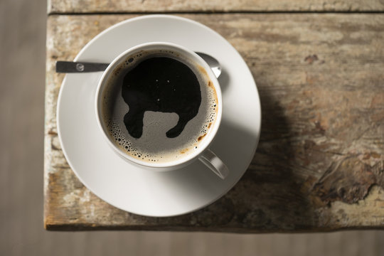 steamy cup of coffee