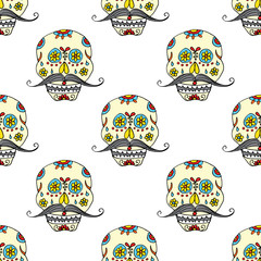 Day of the Dead seamless pattern,