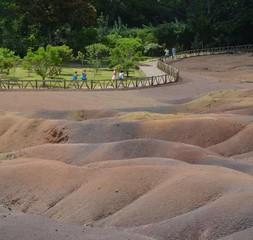 Fotobehang Route 66 Terre des 7 couleurs, dans la région de Chamarel, île Maurice