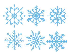 Set of beautiful snowflakes for your design, stock vector illustration