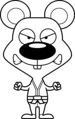 Cartoon Angry Karate Mouse