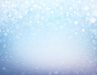 Festive iced winter background