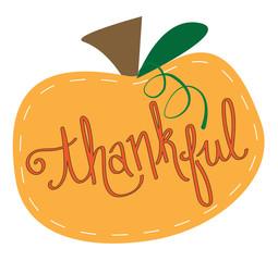 Happy Thanksgiving Thankful Pumpkin