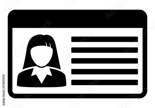 driving id license with person photo identification card icon vector illustration stock. Black Bedroom Furniture Sets. Home Design Ideas