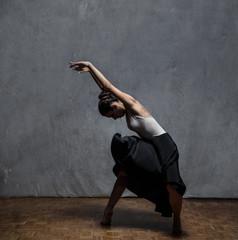Young Beautiful Woman Ballerina Dancer