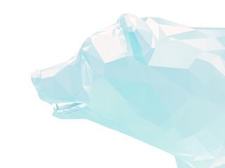 Render illustration of ice bear head