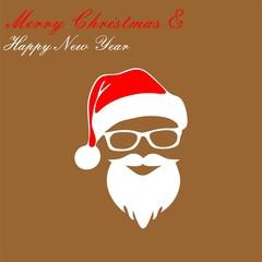 Christmas greeting card cute design