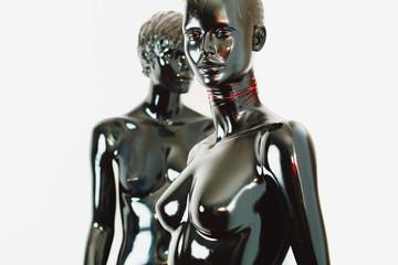 glossy mannequin dolls