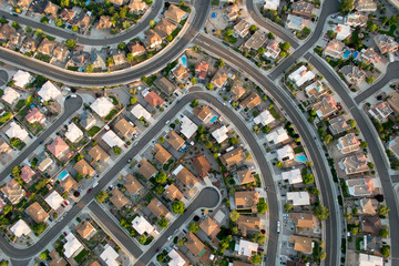 Ariel Photography of Albuquerque New Mexico Showing Urban Sprawl Subdivision Development Planning