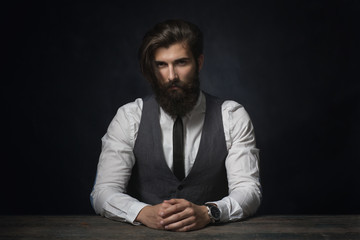 Stylish young man with cool beard