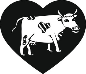 Cow in heart