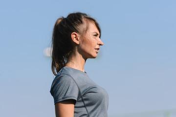 Portrait of a fit woman