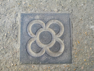Typical Barcelona antoni gaudi modernism style pavement/ornament