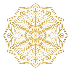 Round flower mandala ornament