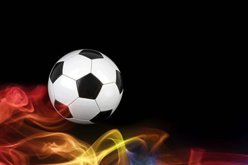 Soccer ball in falames
