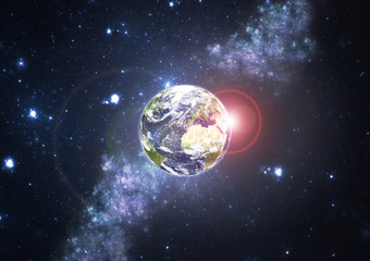 Planet Earth with stars. Elements of this image furnished by NASA