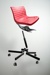 Disassembled Red Chair